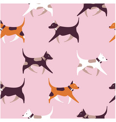 dog seamless pattern vector image vector image