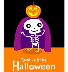 Halloween skeleton vector image vector image