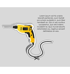 Label of a drill with cutting lines vector