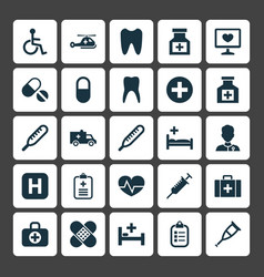 Medicine icons set collection of disabled drug vector