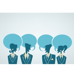 office crowd chatting people vector image vector image