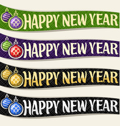 ribbons for new year vector image