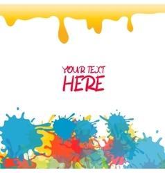 Yellow colored rainbow splash paint vector image