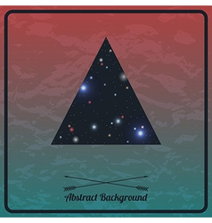 abstract hipster background with triangle vector image vector image