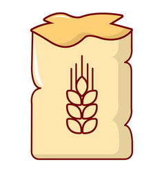 bag of wheat icon cartoon style vector image