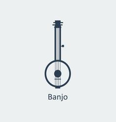 banjo icon silhouette icon vector image vector image