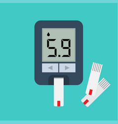 Blood glucose meter blood sugar readings vector