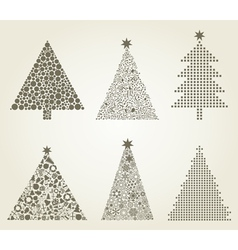 Collection Christmas tree vector image vector image