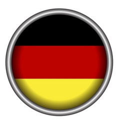 isolated german badge vector image