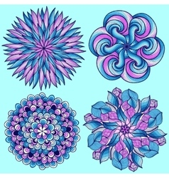 mandalas Colored mandala set Oriental vector image