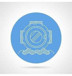 Round icon for scuba helmet vector image