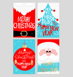 santas message banners vector image vector image