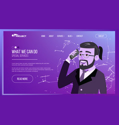 web page business interface responsive ux vector image vector image