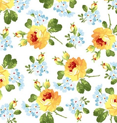 Beautiful floral pattern yellow roses vector image