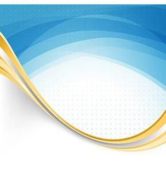 Blue swoosh lines modernistic folder template vector image vector image