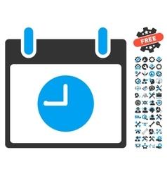 Clock Calendar Day Icon With Bonus vector image vector image