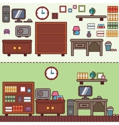 Workplace in room flat vector image