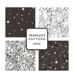 A set of four seamless patterns Stars vector image