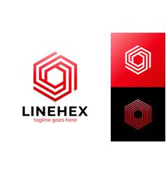 Abstract cube hexagon logo design modern vector