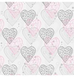 Abstract hearts in gray tones vector
