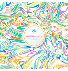 abstract wavy striped colorful bright ink painted vector image