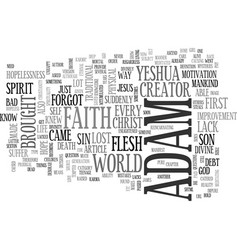 adam as jesus text word cloud concept vector image