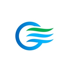 Air flow icon water eco logo vector