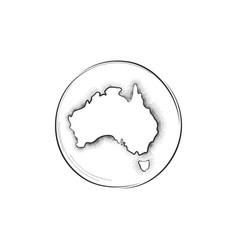 australia retro map sign vector image