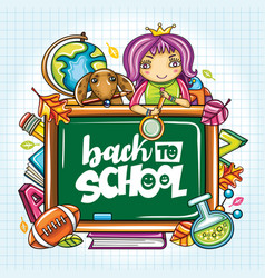 Back to school banner or frame vector