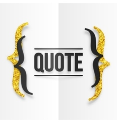 Black and golden curly brackets with place for vector