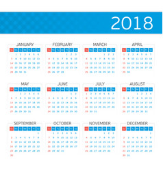 calendar on 2018 vector image
