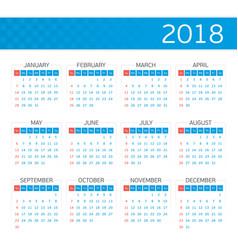 calendar on 2018 vector image