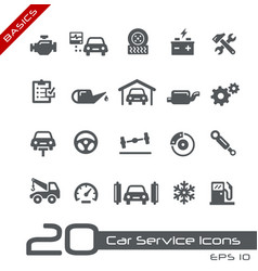 car service icons - basics vector image