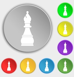 Chess bishop icon sign Symbol on eight flat vector