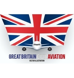 Civil Aircraft with flag vector image