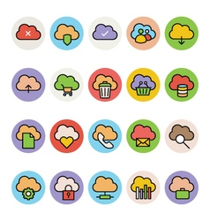Cloud Computing Colored Icons 1 vector
