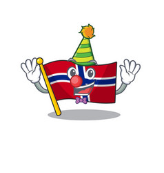 Clown norway flag placed in character cupboard vector