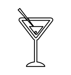 Cocktail cup isolated icon vector