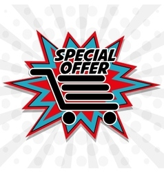 Colorful design of Special Offer vector image