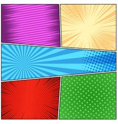 Comic book bright colorful concept vector