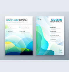 cover set template for brochure banner plackard vector image