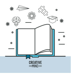 creative mind design vector image