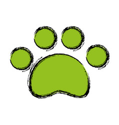 Dog footprint icon vector