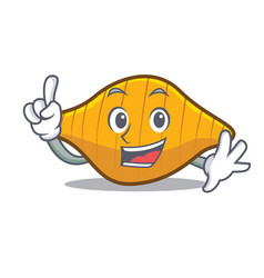 Finger conchiglie pasta mascot cartoon vector