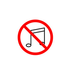 forbidden music icon can be used for web logo vector image