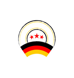 german flag retro stamp vector image
