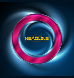 glowing neon bright ring abstract background vector image