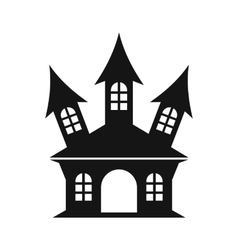 Halloween or witch castle icon simple style vector