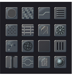industrial element set metal panel vector image