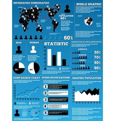 Infographic demographic modern vector